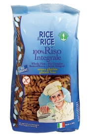 100% Brown Rice Fusilli pasta (Gluten Free)