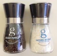 Medium Grinders Pair - Sea Salt 180g & Black Pepper 90g